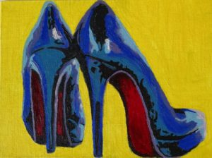 """Louboutins"" Canvas on board 18*24 cm"