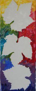"""Leaf fall"", Negative space,  20*50 cm"