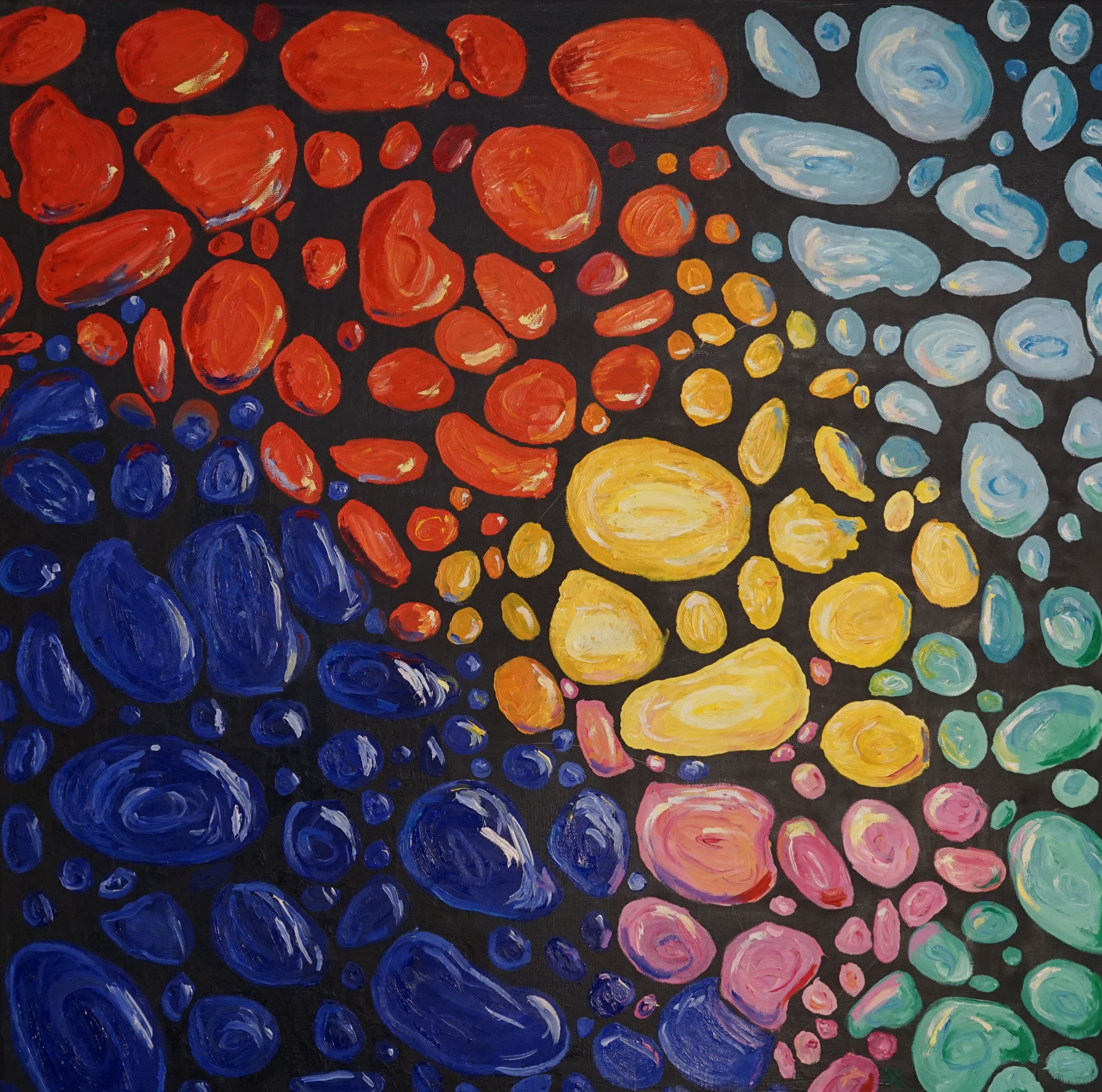 """Under the sea"" Diptych Oil on canvas 90*90"