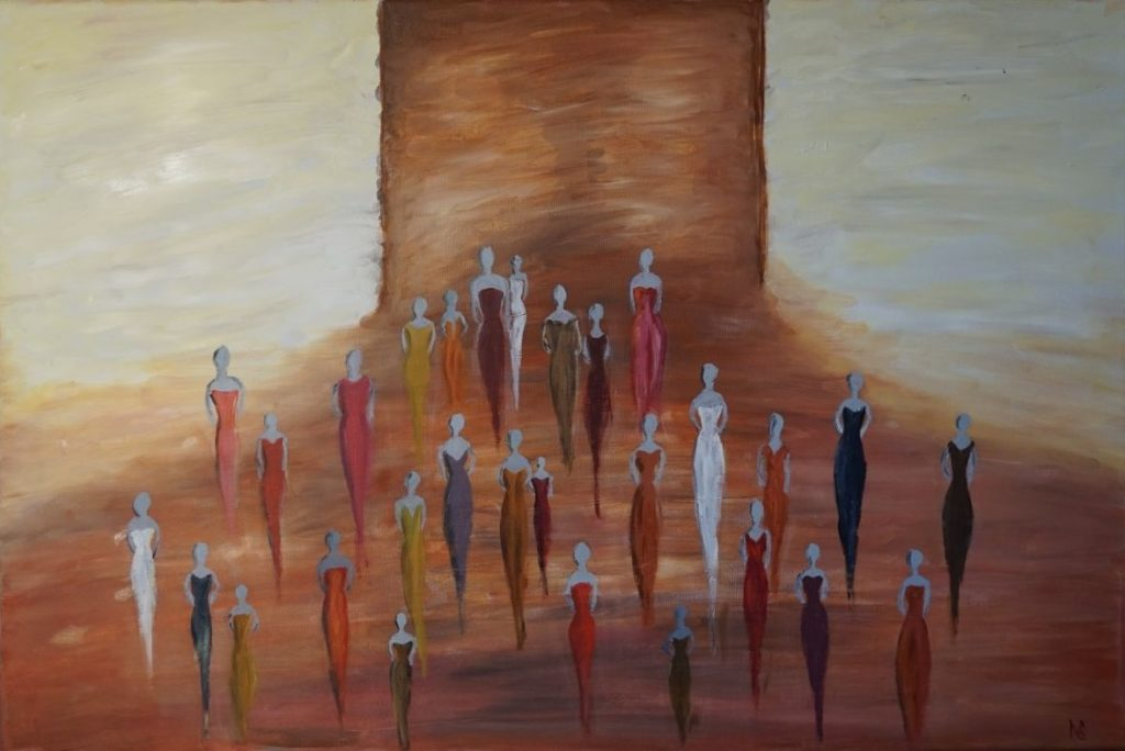 """Women power""  Oil on canvas  90*60 cm"